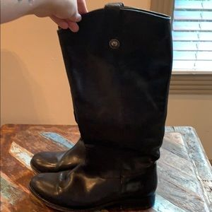 Frye Melissa Button boot. Extended Calf